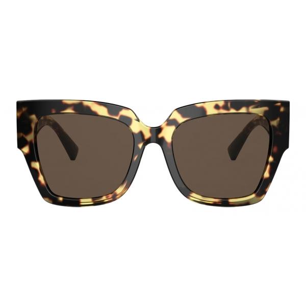 Valentino - Occhiale da Sole Squadrato in Acetato VLogo Signature - Havana Marrone - Valentino Eyewear