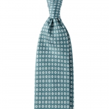 Viola Milano - Cube Pattern Selftipped Silk Tie - Mint - Made in Italy - Luxury Exclusive Collection