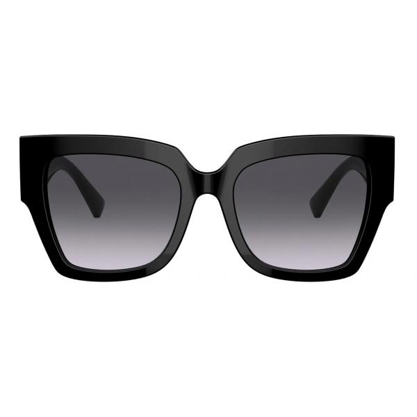Valentino - Occhiale da Sole Squadrato in Acetato VLogo Signature - Nero - Valentino Eyewear