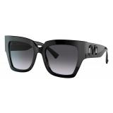 Valentino - VLogo Signature Square Acetate Sunglasses - Black - Valentino Eyewear