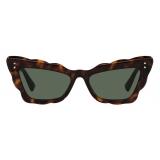 Valentino - Cat-Eye Acetate Sunglasses - Havana Green - Valentino Eyewear