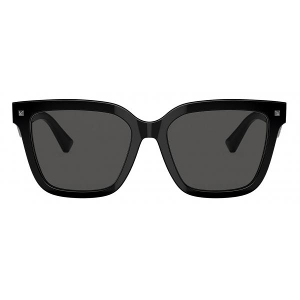 Valentino - VLTN Squared Acetate Sunglasses - Black Gray - Valentino Eyewear