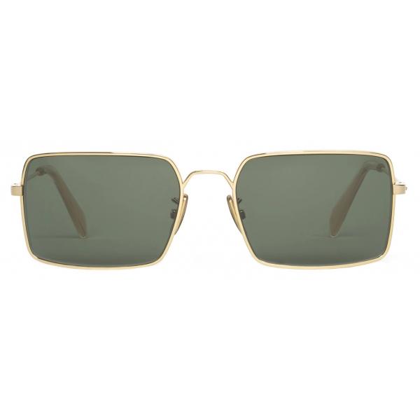 Céline - Occhiali da Sole Metal Frame 18 in Metallo - Oro Verde - Occhiali da Sole - Céline Eyewear