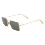 Céline - Metal Frame 18 Sunglasses in Metal - Gold Green - Sunglasses - Céline Eyewear