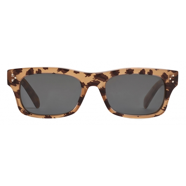 Céline - Black Frame 23 Sunglasses in Acetate - Leopard - Sunglasses - Céline Eyewear