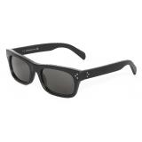 Céline - Black Frame 23 Sunglasses in Acetate with Leather - Black - Sunglasses - Céline Eyewear