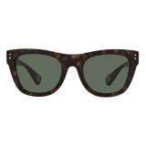 Valentino - Square Acetate Sunglasses - Havana Green - Valentino Eyewear