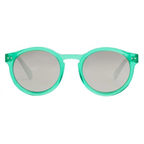 Céline - Occhiali da Sole Black Frame 21 in Acetato con Lenti Specchiato - Verde Caramella - Occhiali da Sole - Céline Eyewear