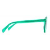 Céline - Black Frame 21 Sunglasses in Acetate with Mirror Lenses - Candy Green - Sunglasses - Céline Eyewear