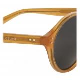 Céline - Black Frame 24 Sunglasses in Acetate - Milky Honey - Sunglasses - Céline Eyewear