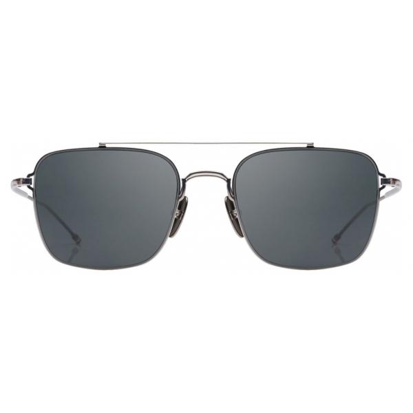 Thom Browne - Occhiali da Sole Aviator Argento e Ferro Nero - Thom Browne Eyewear