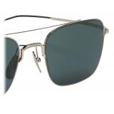 Thom Browne - Silver and Black Iron Aviator Sunglasses - Thom Browne Eyewear