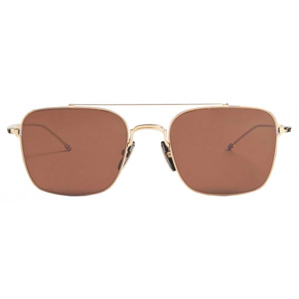 Thom Browne - Occhiali da Sole Aviatore In Oro Bianco e Argento - Thom Browne Eyewear