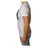Dondup - T-shirt with Strong Writing - White - T-shirt - Luxury Exclusive Collection