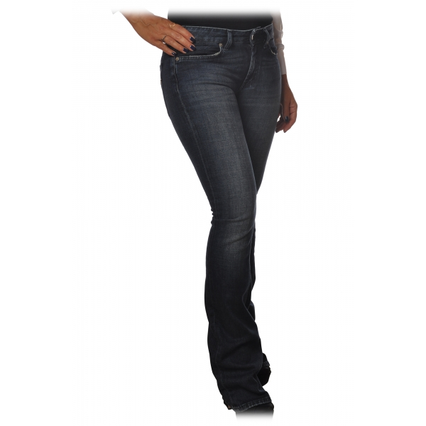 Dondup - Low Rise Five Pocket Jeans - Dark Denim - Trousers - Luxury Exclusive Collection