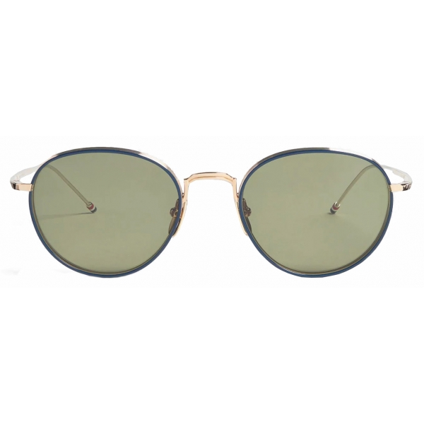 Thom Browne - Occhiali da Sole Pantos in Blu Navy e Oro Bianco - Thom Browne Eyewear