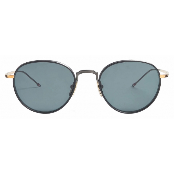 Thom Browne - Black Iron and White Gold Pantos Sunglasses - Thom Browne Eyewear