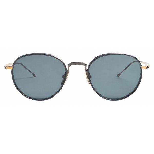 Thom Browne - Occhiali da Sole Pantos in Ferro Nero e Oro Bianco - Thom Browne Eyewear