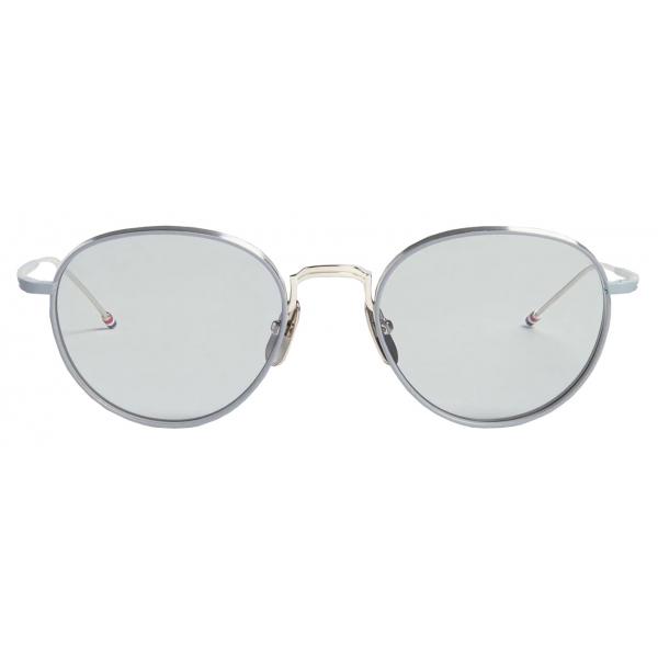 Thom Browne - Occhiali da Sole Pantos Grigi e Argento - Thom Browne Eyewear