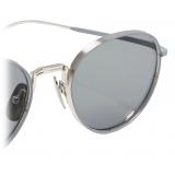 Thom Browne - Grey and Silver Pantos Sunglasses - Thom Browne Eyewear