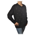 Ottod'Ame - Oversized Sweatshirt with Bezel - Black - Sweatshirt - Luxury Exclusive Collection