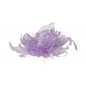 Ottod'Ame - Flower Brooch in Feathers - Lilac - Brooch - Luxury Exclusive Collection
