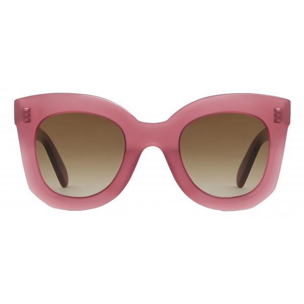 Céline - Occhiali da Sole  a Farfalla S005 in Acetato - Merlot Opalescente - Occhiali da Sole - Céline Eyewear