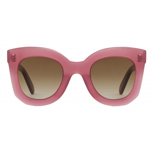 Céline - Butterfly S005 Sunglasses in Acetate - Milky Merlot - Sunglasses - Céline Eyewear