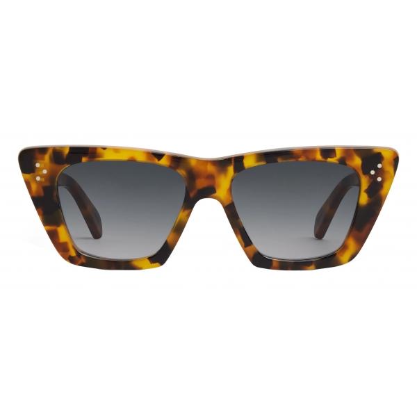 Céline - Cat Eye S187 Sunglasses in Acetate - Spotted Havana - Sunglasses - Céline Eyewear