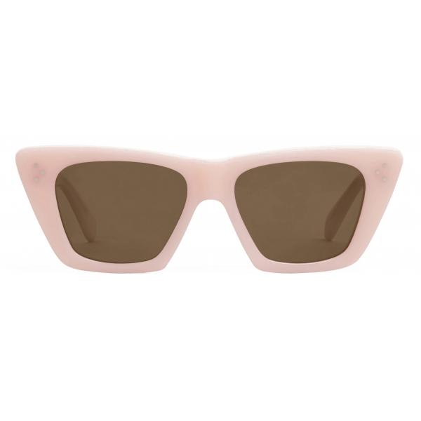 Céline - Cat Eye S187 Sunglasses in Acetate - Milky Pastel Rose - Sunglasses - Céline Eyewear