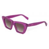 Céline - Cat Eye S187 Sunglasses in Acetate - Violet - Sunglasses - Céline Eyewear