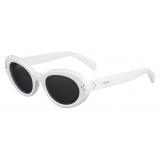 Céline - Cat Eye S193 Sunglasses in Acetate - White - Sunglasses - Céline Eyewear