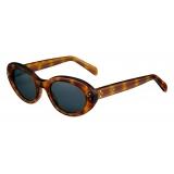 Céline - Cat Eye S193 Sunglasses in Acetate - Honey Spotted Havana - Sunglasses - Céline Eyewear