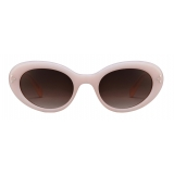 Céline - Cat Eye S193 Sunglasses in Acetate - Milky Light Pink - Sunglasses - Céline Eyewear