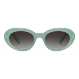 Céline - Cat Eye S193 Sunglasses in Acetate - Milky Water Green - Sunglasses - Céline Eyewear