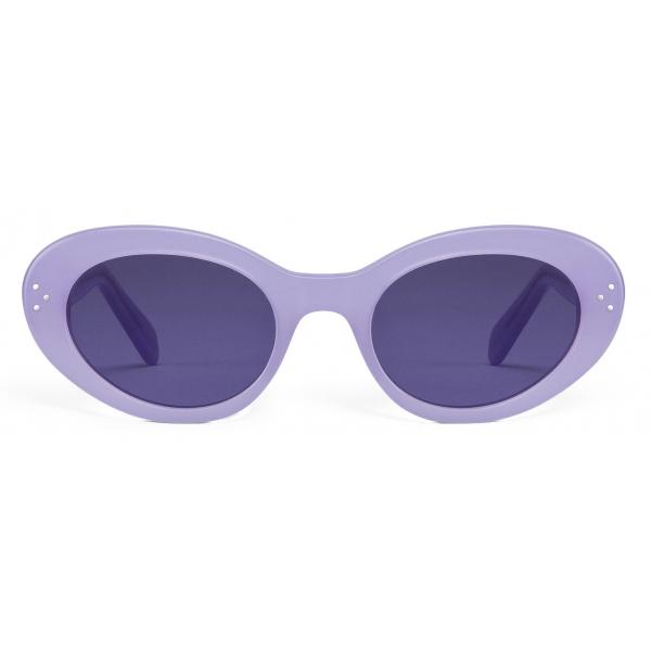 Céline - Cat Eye S193 Sunglasses in Acetate - Milky Lilac - Sunglasses - Céline Eyewear