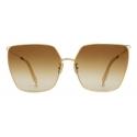 Céline - Metal Frame 10 Sunglasses in Metal - Gold Brown - Sunglasses - Céline Eyewear