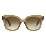 Céline - Oversized S002 Sunglasses in Acetate - Transparent Khaki - Sunglasses - Céline Eyewear