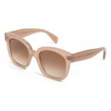 Céline - Oversized S002 Sunglasses in Acetate - Milky Hazelnut - Sunglasses - Céline Eyewear