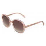 Céline - Square S172 Sunglasses in Acetate - Peach - Sunglasses - Céline Eyewear