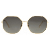 Céline - Metal Frame 17 Sunglasses in Metal - Gold Gradient Grey - Sunglasses - Céline Eyewear