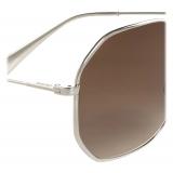Céline - Metal Frame 17 Sunglasses in Metal - Silver Gradient Brown - Sunglasses - Céline Eyewear