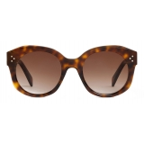 Céline - Round S186 Sunglasses in Acetate - Dark Havana - Sunglasses - Céline Eyewear