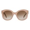 Céline - Round S186 Sunglasses in Acetate - Milky Hazelnut - Sunglasses - Céline Eyewear