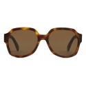 Céline - Triomphe 02 Sunglasses in Acetate - Dark Havana - Sunglasses - Céline Eyewear
