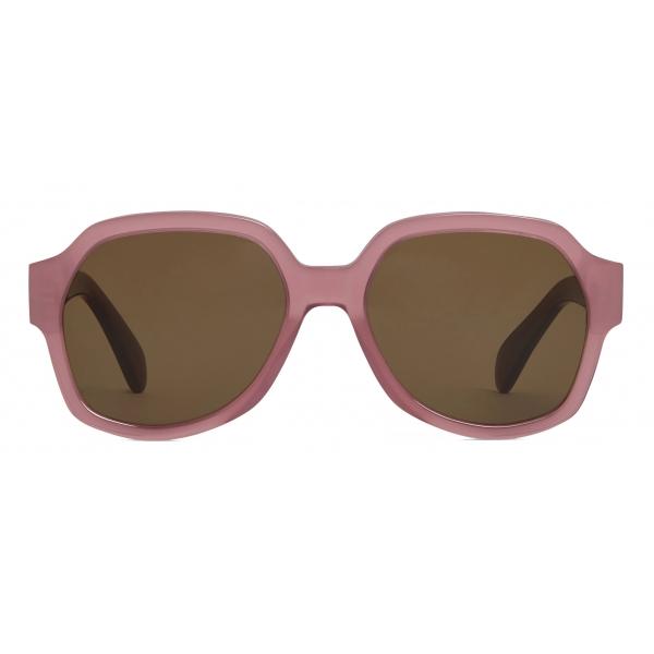 Céline - Triomphe 02 Sunglasses in Acetate - Milky Merlot - Sunglasses - Céline Eyewear