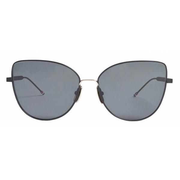 Thom Browne - Occhiali da Sole Cat Eye in Ferro Nero - Thom Browne Eyewear