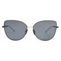 Thom Browne - Black Iron Cat Eye Sunglasses - Thom Browne Eyewear