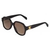 Céline - Triomphe 02 Sunglasses in Acetate - Black - Sunglasses - Céline Eyewear