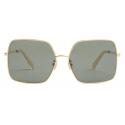 Céline - Metal Frame 09 Sunglasses in Metal - Gold Green - Sunglasses - Céline Eyewear